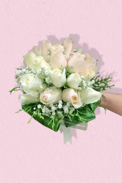 Ivory Roses Bridal Bouquet - Floral design