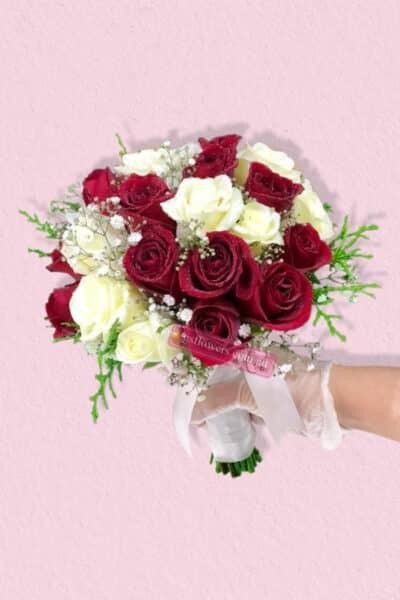 Lasting Red Roses Bridal Bouquet - Floral design