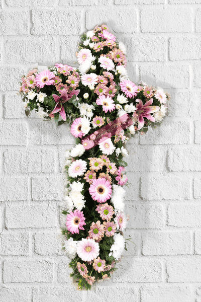 Cross of Faith Funeral Flowers - Floral design