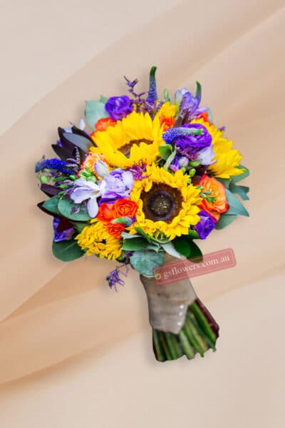 Blooming Sunflowers Bridal Bouquet - Floral design