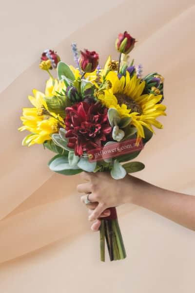 Perfect Sunflowers Bridal Bouquet - Floral design