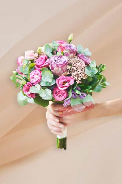 Pink Roses Bridal Bouquet - Floral design