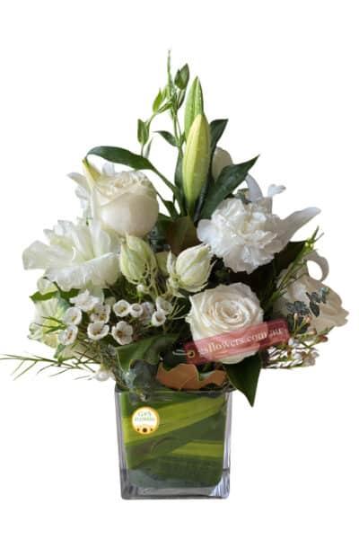 Tender White Fresh Flower Bouquet - Floral design