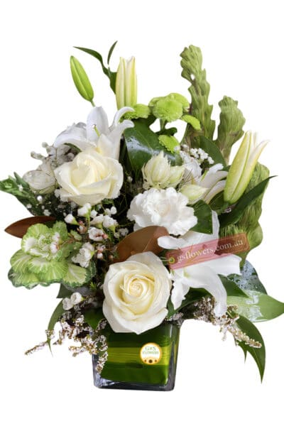 Roses and Lilies Flowers - Floral design
