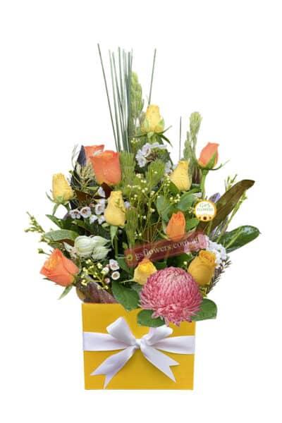 Citrus Smile Fresh Flower Bouquet - Floral design
