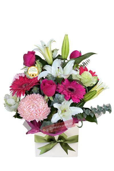 Hot Pink Mixed Flowers - Floral design