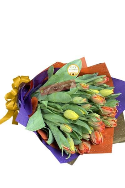 Classic Elegance Tulips Flowers Bouquet - Cut flowers